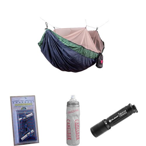 Grand Trunk Skeeter Beeter Pro Hammock Essentials Kit (Navy/Forest)