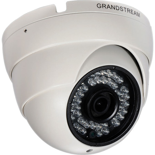 Grandstream Networks 3.1MP Fixed 3.6mm Outdoor Dome IP Camera with IR LEDs