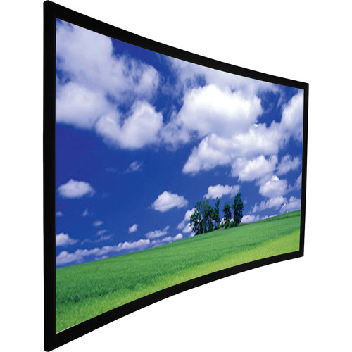 """GrandView Curved 65 x 104"""" Fixed-Frame Projection Screen"""