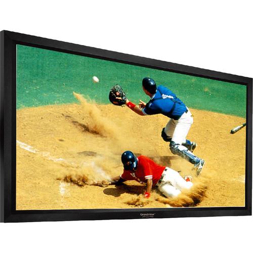 "GrandView LF-PU112HWB7B Prestige 55 x 98"" Fixed Frame Projection Screen"