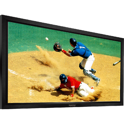"GrandView LF-PU150HWB7B Prestige 73.5 x 130.7"" Fixed Frame Projection Screen"