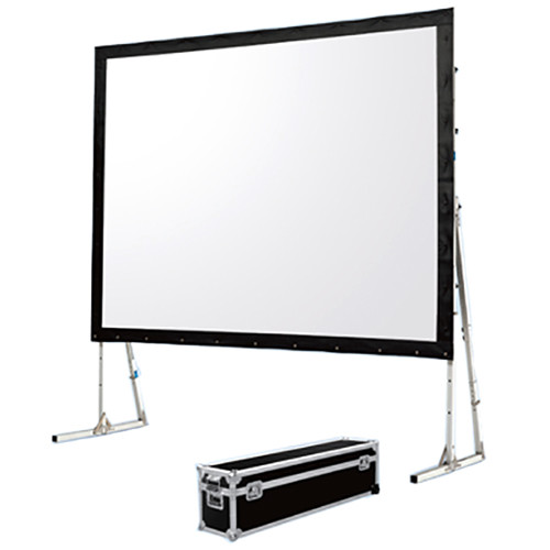"""GrandView LS-ZD180HWW3R Super Mobile 88 x 157"""" Folding Projection Screen"""