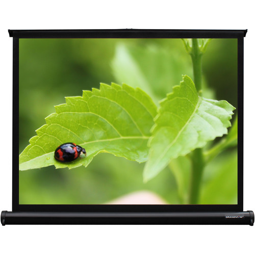 "GrandView PT-UW040VWM4B U-Work 24 x 32"" Table-Top Projection Screen"