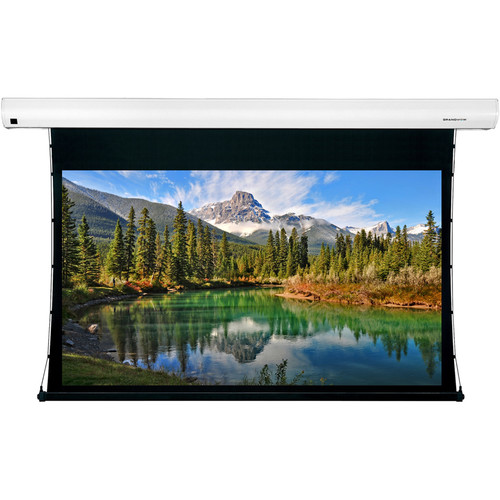 "GrandView Reference Series Cyber Integrated Tab-Tension 58 x 92"" Motorized Screen (120V)"