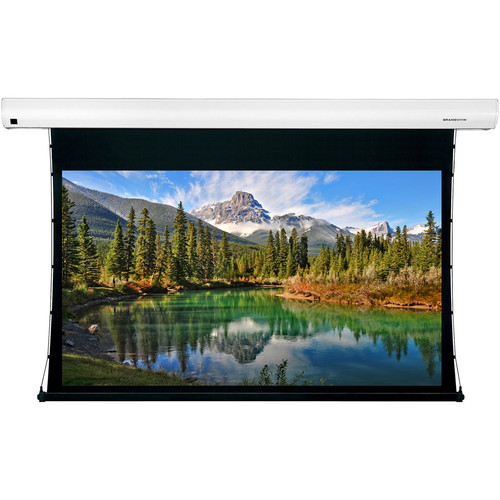 """GrandView Reference Cyber Series Tab Tension 150"""" Projection Screen (WB5 Surface, 16:9, White Case)"""