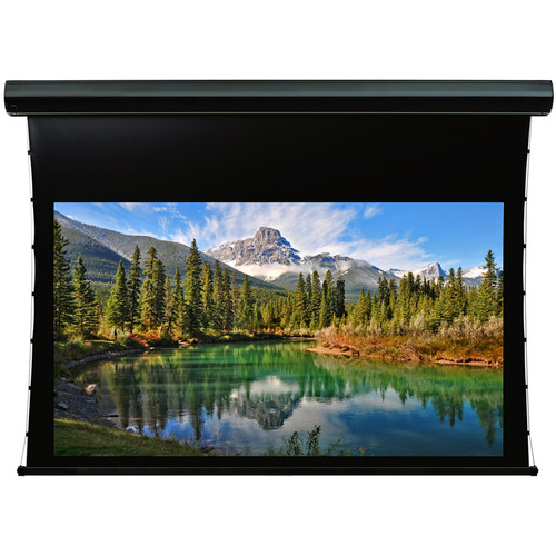 """GrandView Reference Cyber Series Tab Tension 150"""" Projection Screen (UHD130 Surface, 16:9, Black Case)"""