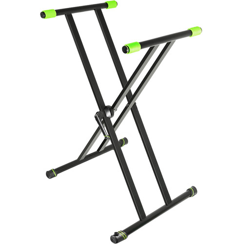 Gravity Stands Double X-Form Keyboard Stand (Black)