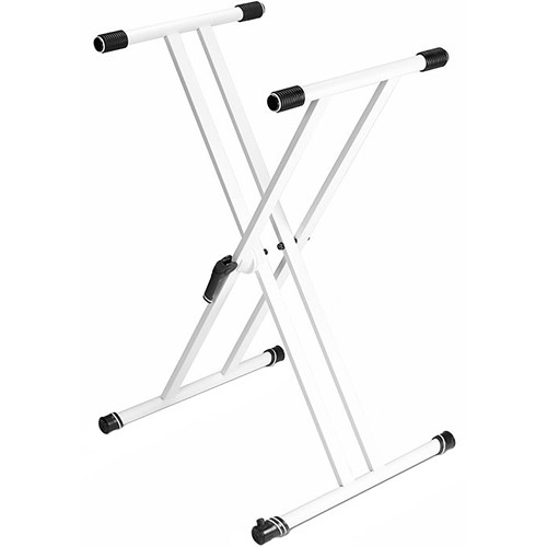 Gravity Stands KSX 2W X-Form Double-Braced Keyboard Stand (White)