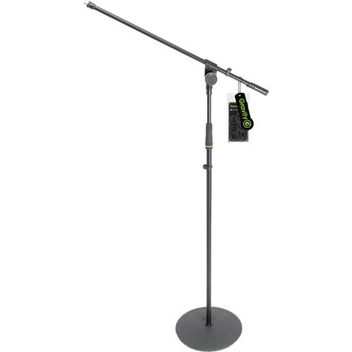Gravity Stands Microphone Stand Round Base 1 Point Telescoping Boom