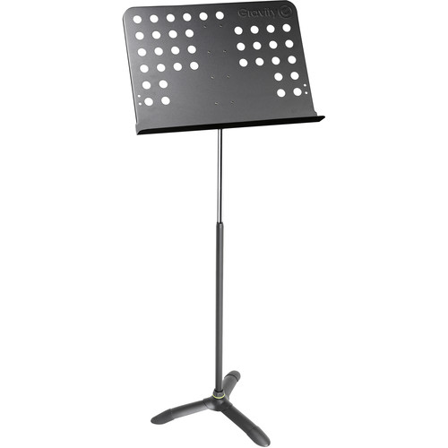 Gravity Stands Music Stand Orchestra Tough With Perforated Desk