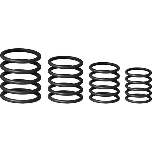 Gravity Stands G-Ring Universal Ring Pack for Microphone Stand (Set of 4, Vanta Black)