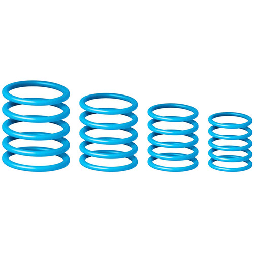 Gravity Stands G-Ring Universal Ring Pack for Microphone Stand (Set of 4, Deep Sky Blue)