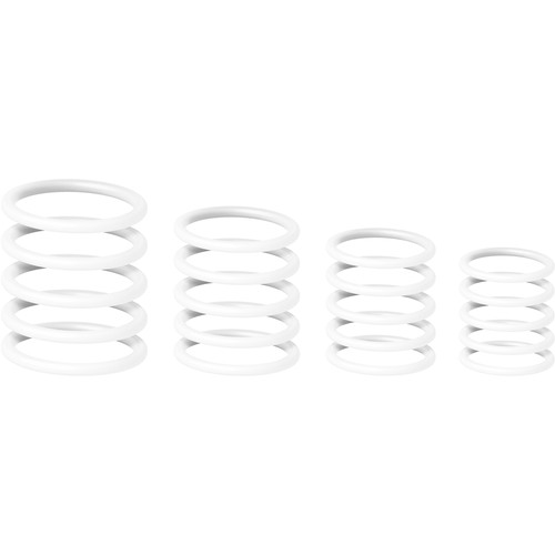 Gravity Stands Universal Ring Pack for Microphone Stands (20-Pack, Ghost White)