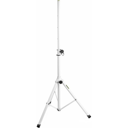 """Gravity Stands Speaker Stand 35mm Aluminium, 110LB Load - Up to 6.3"""" (White)"""