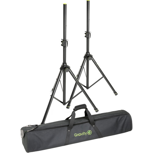 Gravity Stands Speaker Stand Set 2 Speaker Stands Steel with Bag