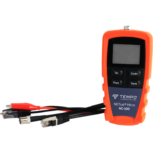 Greenlee NC-100 NETcat Micro - Wiring Tester for Digital Voice, Data, and Video