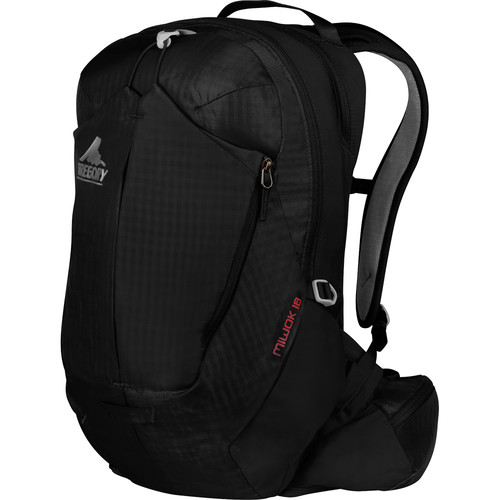 Gregory Miwok 18 Compact Backpack (18 L, Storm Black)