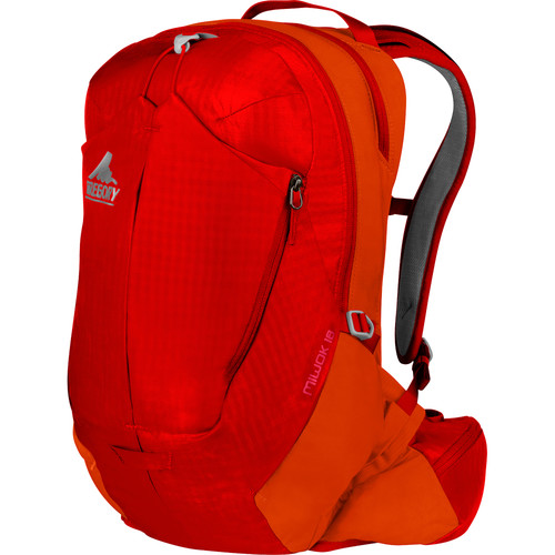 Gregory Miwok 18 Compact Backpack (18 L, Tropical Orange)