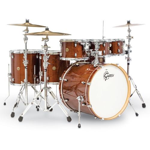 """Gretsch Drums Catalina Maple Series 6-Piece Drum Kit with 22"""" Bass Drum (Walnut Glaze)"""