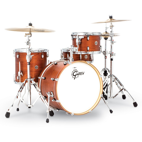 "Gretsch Drums Catalina Club Series 4-Piece Shell Pack with 20"" Bass Drum (Satin Walnut Glaze)"