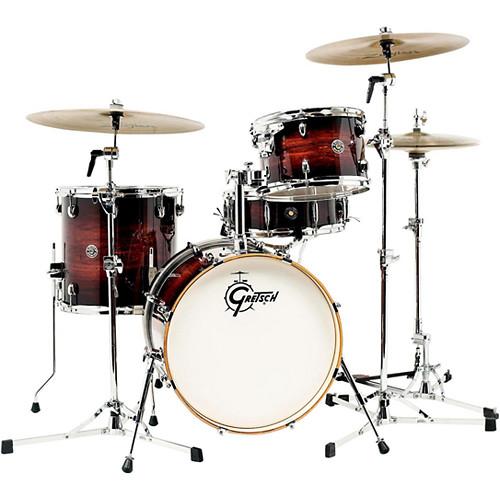 "Gretsch Drums Catalina Club Series 4-Piece Drum Set with 18"" Bass Drum (Gloss Antique Burst)"