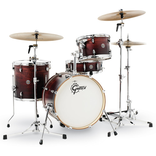 """Gretsch Drums Catalina Club Series 4-Piece Shell Pack with 18"""" Bass Drum (Satin Antique Fade)"""