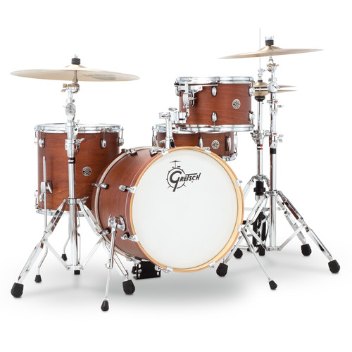 "Gretsch Drums Catalina Club Series 4-Piece Shell Pack with 18"" Bass Drum (Satin Walnut Gaze)"