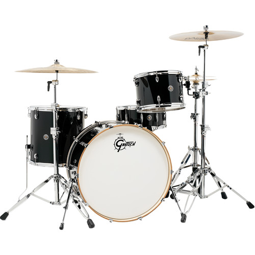 "Gretsch Drums Catalina Club Series 4-Piece Drum Set with 24"" Bass Drum (Piano Black)"