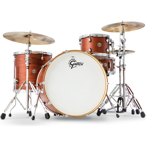 "Gretsch Drums Catalina Club Series 4-Piece Shell Pack with 24"" Bass Drum (Satin Walnut Gaze)"