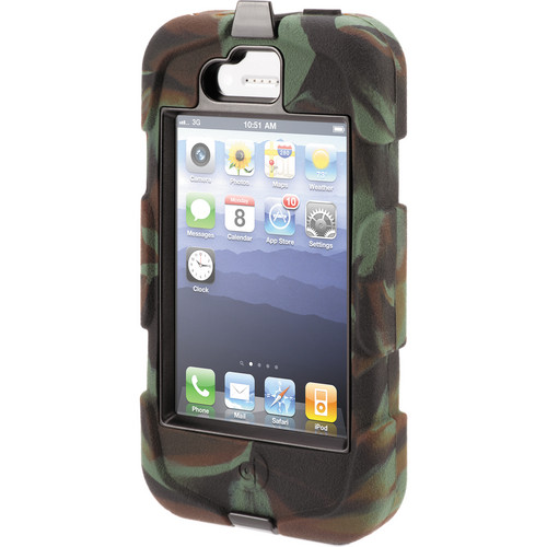 Griffin Technology Survivor Custom Case for iPhone 4/4S (Hunter Camoflage Case / Black Edges)