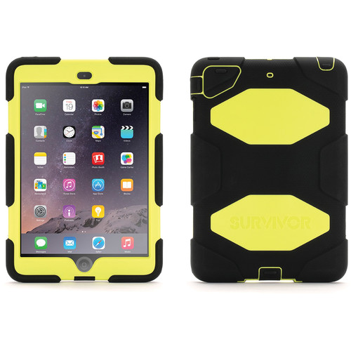Griffin Technology Survivor Case for iPad mini, iPad mini 2, & iPad mini 3 (Black / Citron)