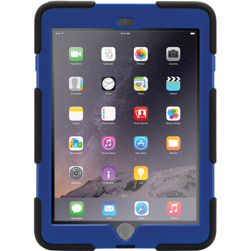 Griffin Technology Survivor All-Terrain Case with Stand for iPad Air 2 (Black/Blue)