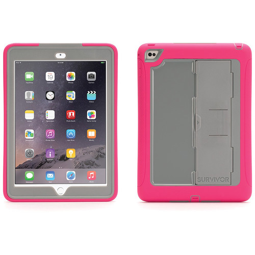 Griffin Technology Survivor Slim Case for iPad Air 2 (Pink/Gray)