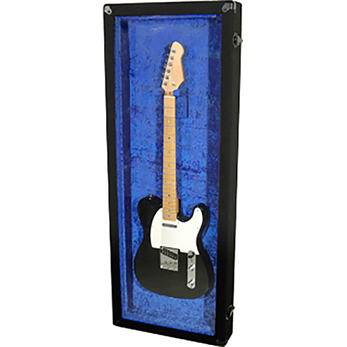 "Grundorf Plexi-Glass Guitar Display Case for 3.5 x 46 x 16"" Guitars (Blue)"