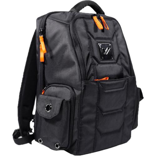 Gruv Gear Club Bag Flight-Smart Tech Backpack (Elite, Black/Orange)