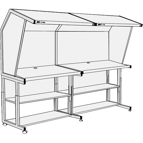 GTI CVX-30106/DS/FS Color Viewing Station with Two Light Qualities and Floor Stand