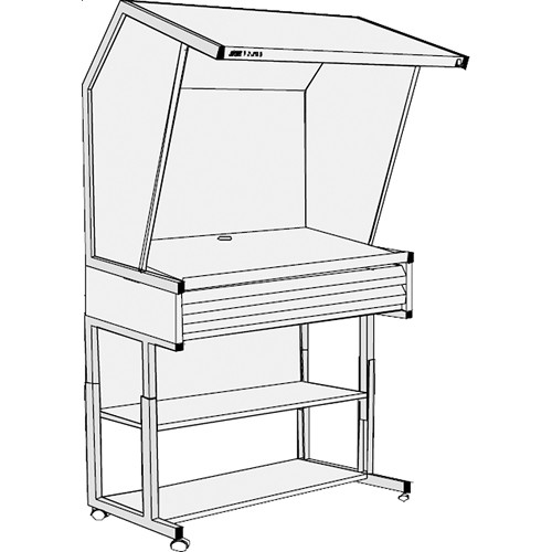 GTI CVX-3052/DS/FS/2F Color Viewing Station with Two Light Qualities, Floor Stand, and Two Shallow File Drawers