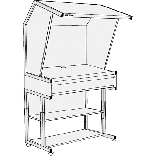 GTI CVX-3052/M/FS/1F Color Viewing Station with Three Light Qualities, Floor Stand, and Deep File Drawer
