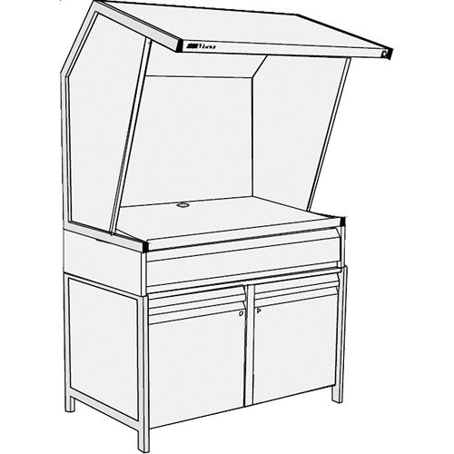 GTI CVX-3052/M/SC/1F Color Viewing Station with Three Light Qualities, Storage Cabinet, and Deep File Drawer
