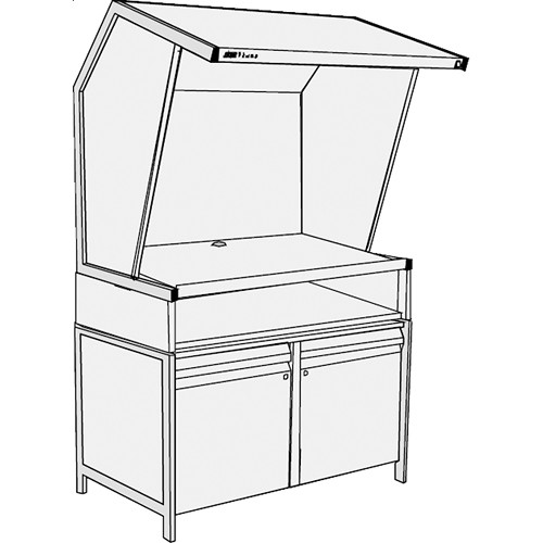 GTI CVX-3052/TS/SC Color Viewing Station with Table Stand and Storage Cabinet