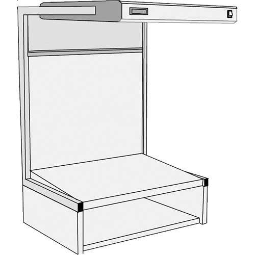 GTI EVS-2028/TS Executive Viewing Station with Table Stand