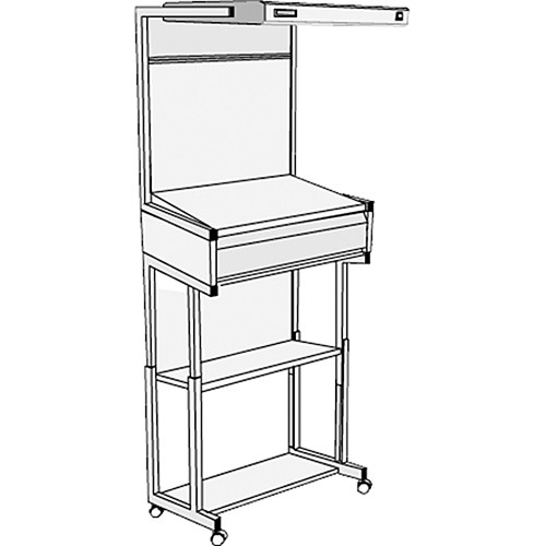 GTI EVS-2540/FS/1F Executive Viewing Station with Floor Stand and Deep Drawer