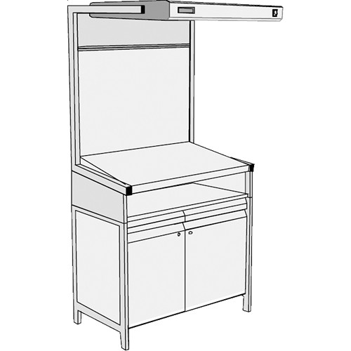 GTI EVS-3052/TS/SC Executive Viewing Station with Table Stand and Storage Cabinet