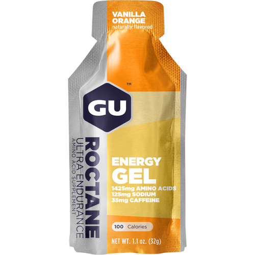 GU Energy Labs Roctane Energy Gel (24-Pack, Vanilla Orange)