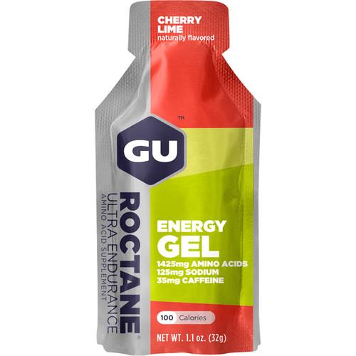 GU Energy Labs Roctane Energy Gel (24-Pack, Cherry Lime)