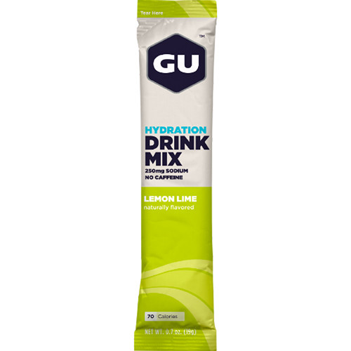 GU Energy Labs Hydration Drink Mix (Lemon Lime, 24 Single-Serve Packets)