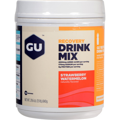 GU Energy Labs Recovery Drink Mix (Strawberry/Watermelon, 15-Serving Container)
