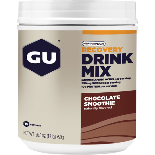 GU Energy Labs Recovery Drink Mix (Chocolate Smoothie, 15-Serving Container)