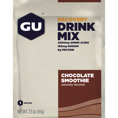 GU Energy Labs Recovery Drink Mix (Chocolate Smoothie, 12-Pack Box)