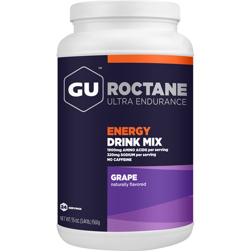 GU Energy Labs Roctane Energy Drink Mix (12-Serving Canister, Grape)